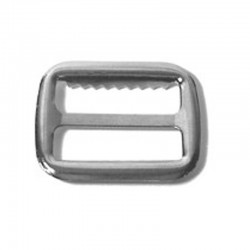Vest Buckle with Teeth, Nickel Plated - (AL-021)