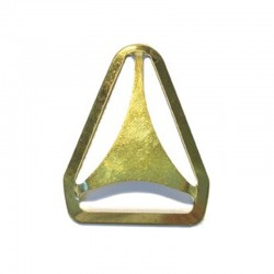 Triangle Back, Brass Plated (AL-732)