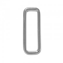 Rectangular Metal Loop, Welded, Nickel Plated