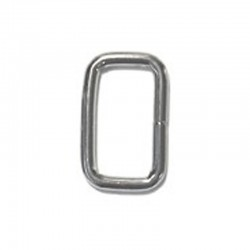 Rectangular Metal Loop, Nickel Plated