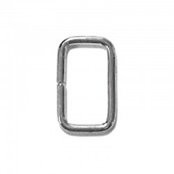 13 Gauge Rectangle Ring - Nickel