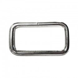 12 Gauge Rectangle Ring - Butt Welded - Nickel