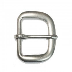 End Bar Buckle, Moveable Prong, Dull Nickel (AL-392DN)