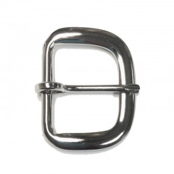 End Bar Buckle, Moveable Prong, Nickel Plated (AL-392NP)