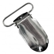 Fingernail Suspender Clip, Nickel Plated - (A-33)