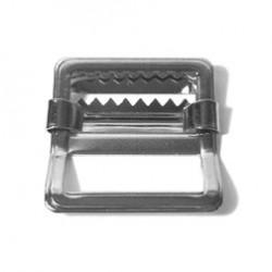 Web Strap Buckle, Nickel Plated - (AL-022)