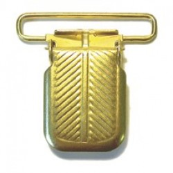Jumbo Clip without Plastic Insert, Brass Plated