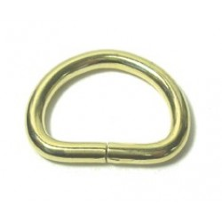 Pet Collar D-Ring, #7 Gauge, Brass Plated