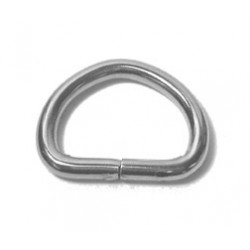Pet Collar D-Ring, #7 Gauge, Nickel Plated