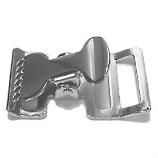 Squeeze Buckle, Nickel Plated - (AL-404)