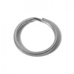 Flat Split Key Ring, Nickel Plated