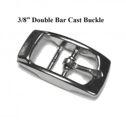 Cast Double Bar Buckle, Nickel Plated - (AL-520)