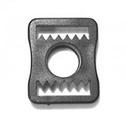 Chin Strap Buckle, Black Plastic