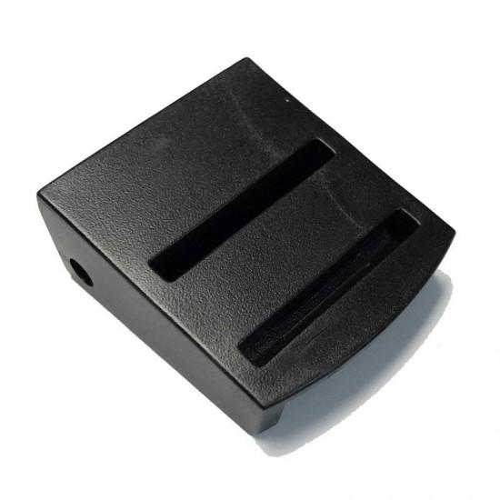 Cam Buckle, 2 Slits in Back, Black Plastic - (PL402)
