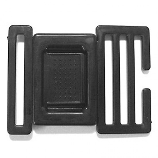 Center Release Buckle, Black Plastic - (PLP009)