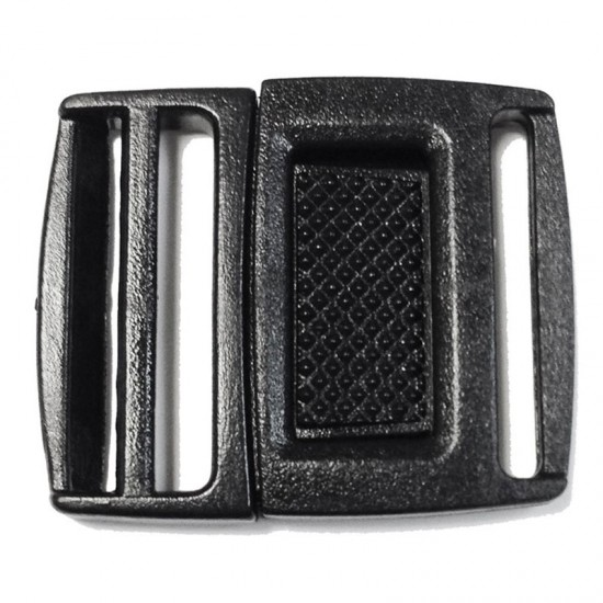 Center Release Buckle, Black Plastic - (PLP051)
