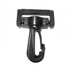 Swivel & Rotating Snap Hook, Black Plastic - (PL204)