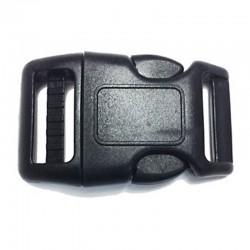 Heavy Duty Contoured Side Release Buckle, Black Plastic (PL-1085H)