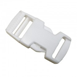 Side Release Buckle, White Plastic (PL211)