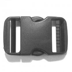 Contoured Dual Side Release Buckle, Black Plastic - (PL221)