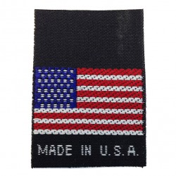 Made in USA - Black Woven Nylon Tag