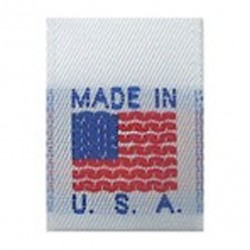 Made in USA - Woven Nylon Tag